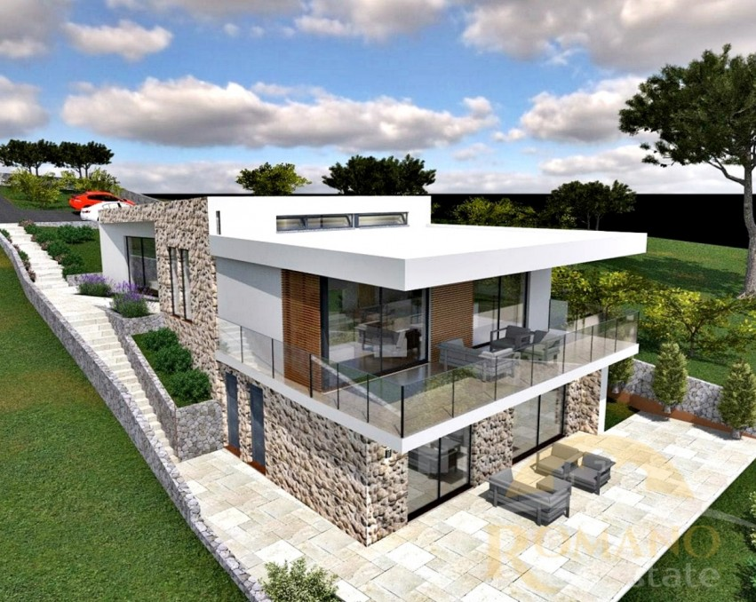 Građevinsko zemljište s projektom za vilu - Seget